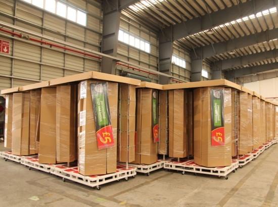 四海公司首次承接东方海外置物架项目
